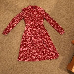 Perfect red dress for the fall!